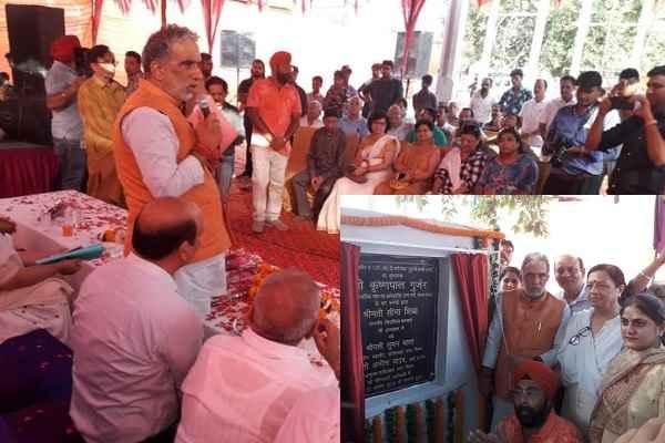 faridabad-mp-minister-krishan-pal-gurjar-at-nit-1-market-sabji-mandi
