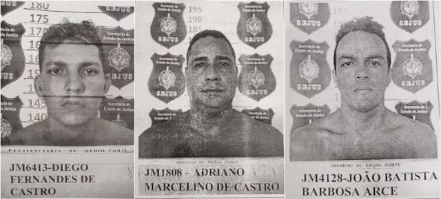 Três presos fogem do presídio Vale do Guaporé em Porto Velho