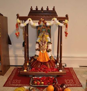 puja mandir decoration for ugadi
