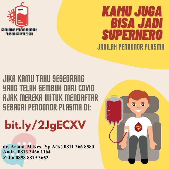 Kamu Juga Bisa Jadi SUPERHERO! Jadilah Pendonor Plasma