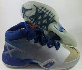 Air  Jordan XXX  White/ Dark Blue Premium, Sepatu Basket Murah , Sepatu Basket premium, Sepatu Basket import