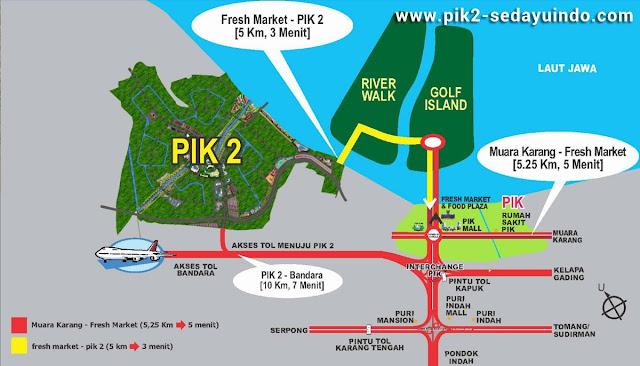 PIK2 Sedayu Indo City Map Location