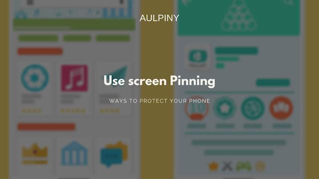Use screen Pinning