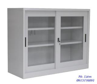 Tủ Sắt Thấp Rộng 1.2m Cửa Kính Trượt Godrej, Tủ hồ sơ văn phòng godrej