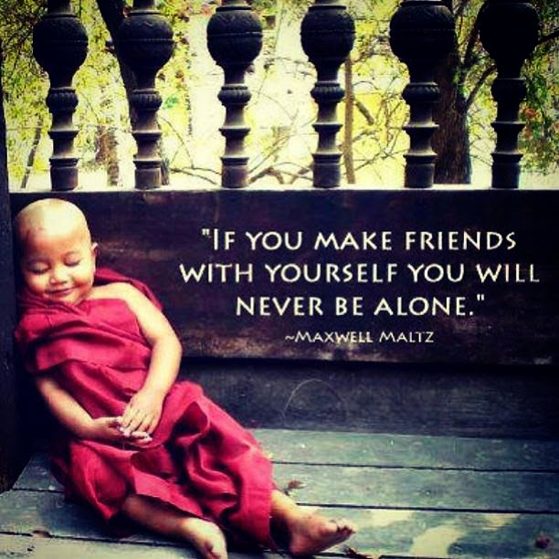 Friend Quotes Alone: If You Make Friends With Yourself You Will Never Be Alone