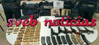 Localizan y aseguran fuerte arsenal en carretera Cosoleacaque-Jáltipan