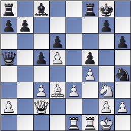 Posición de la partida de ajedrez Portisch - Ulvestad Olaf, después de 17... Da5