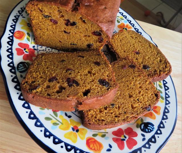 Pumpkin, Orange & Cranberry Bread