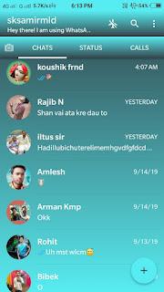 change your whatsapp home screen