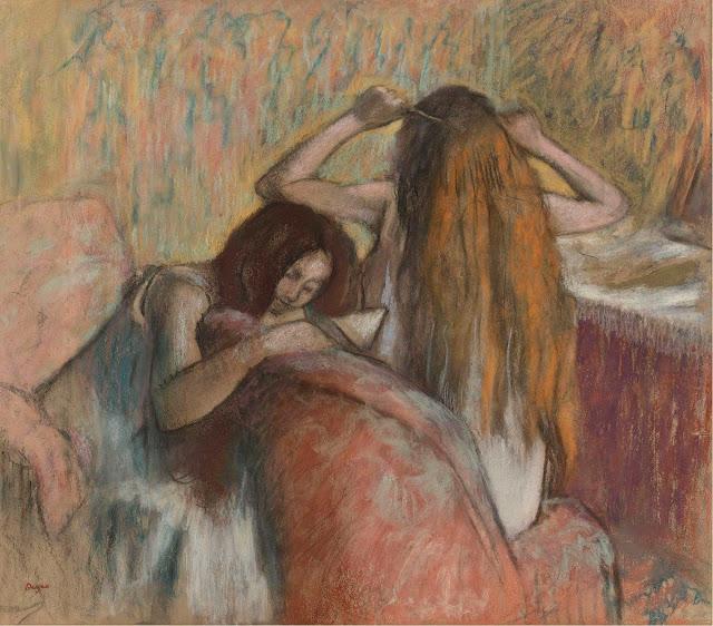 Эдгар Дега - Женщина, расчёсывающая свои волосы (1892-1895)