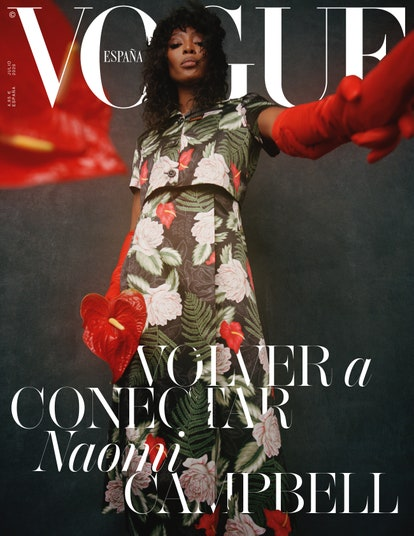 Floral Beauty: Naomi Campbell covers Vogue España, July 2020