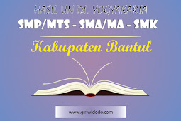 HASIL UN SMA/MA Kabupaten Bantul Tahun 2015 – 2017 Jurusan IPA