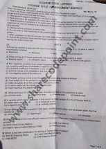 Opr603 Management Science Mid Term Exam Question Paper