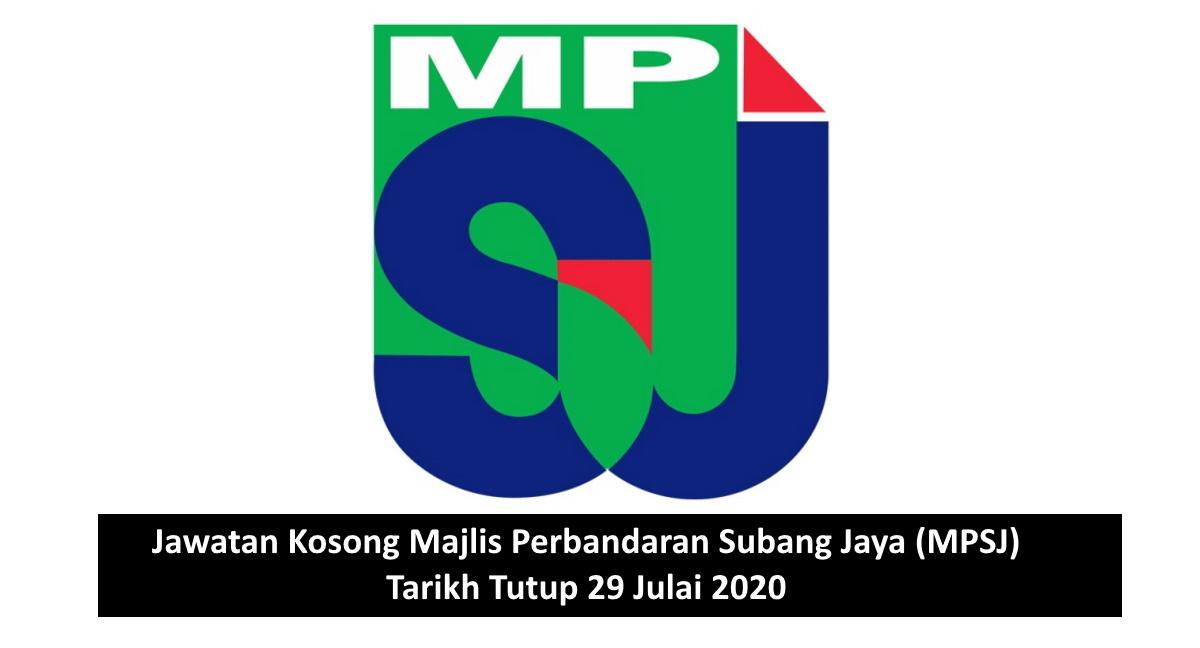 Jawatan Kosong Majlis Perbandaran Subang Jaya Mpsj Tarikh Tutup 29 Julai 2020