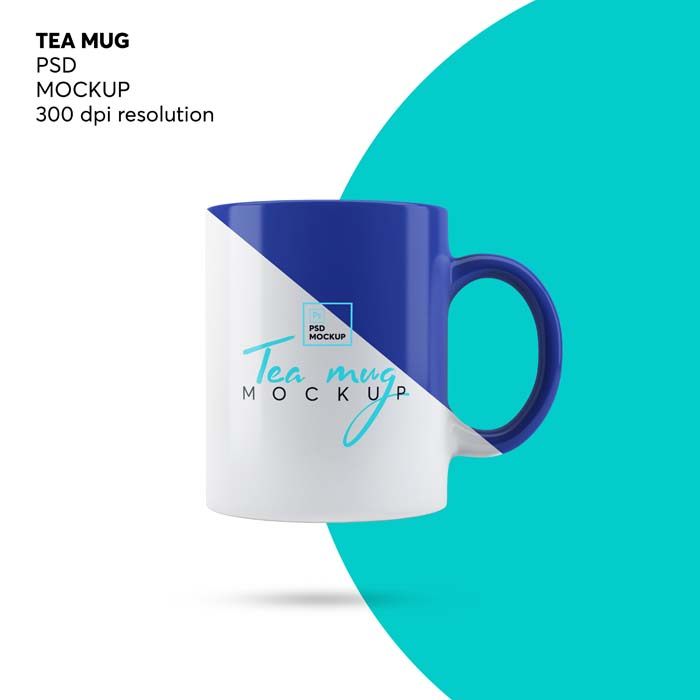 Coffee Tea Mug PSD Mockup