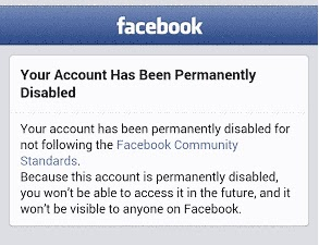Why is Facebook Account Blocked and Permanently Disabled?