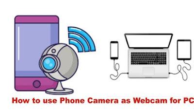 जाने मोबाइल कैमरे को वेबकैमरे की तरह अपने कंप्यूटर में कैसे प्रयोग करे | How to use Phone Camera as Webcam for PC