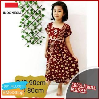 HLL081 Dress Batik Anak Bahan Rayon BMGShop