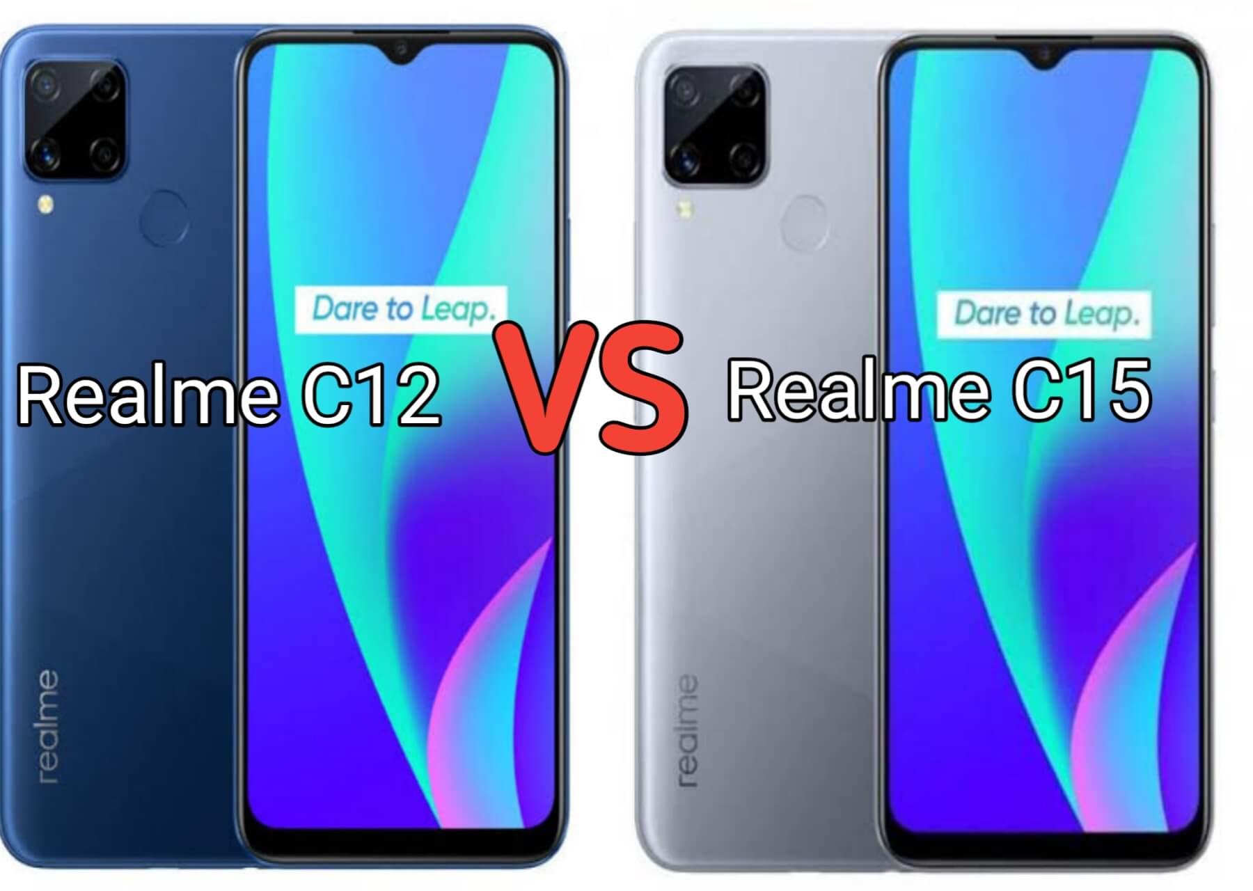 perbedaan realme c12 dan realme c15