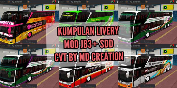 livery jb3+ sdd md creation