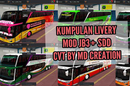 Download Livery JB3+ SDD (Super Double Decker) MOD CVT By MD Creation