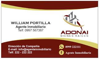 tarjetas de presentación para agente inmobiliario impactante