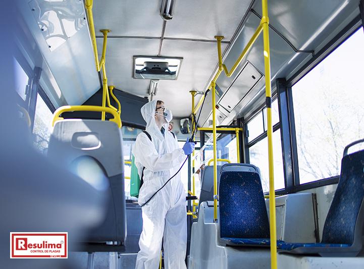 desinfeccion autobuses Sevilla