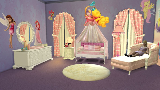 sims 4 cc (custom content) nursery furniture set