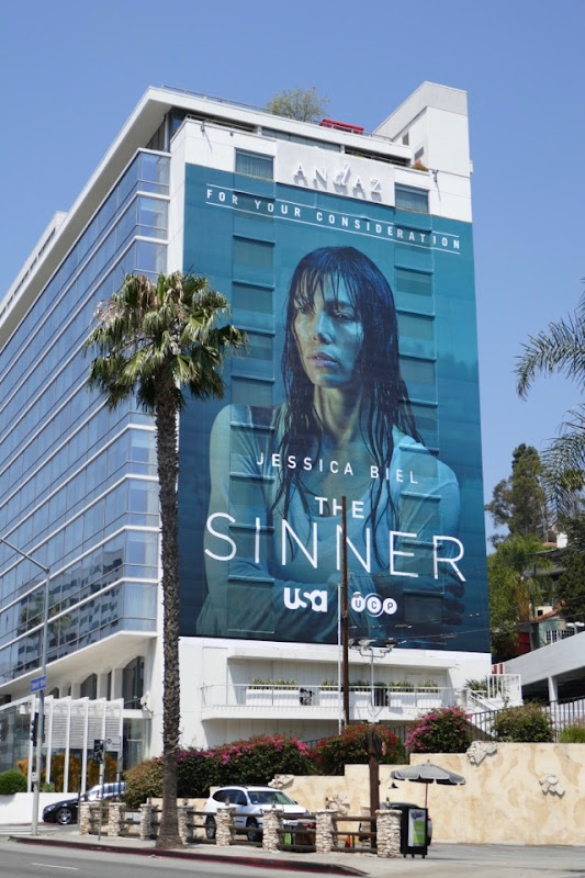 Sinner giant Emmy FYC billboard Sunset Strip