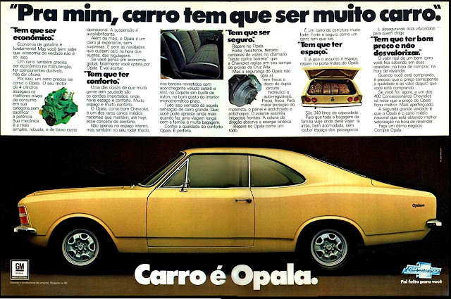 propaganda Chevrolet Opala - 1978