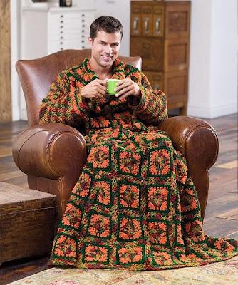 crochet dressing gown