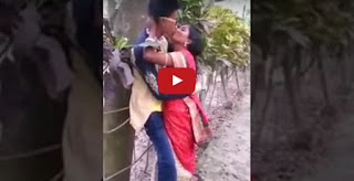 18Year Teen Boy Romance 32 Years Old Woman Garden caught on Camera