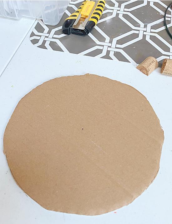 cardboard circle and craft knife