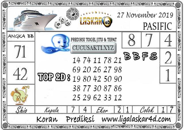 Prediksi Togel PASIFIC LASKAR4D 27 NOVEMBER 2019