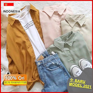 RAMAR1198 NEW SET PARKA BLOUSE TOP BARU 2021
