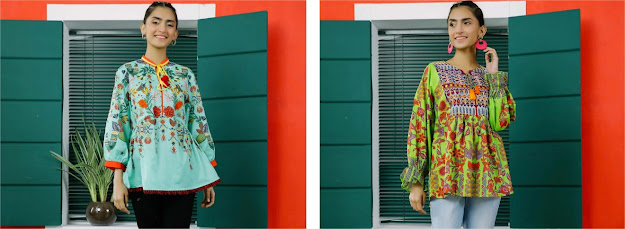 Ethnic top fusion collection