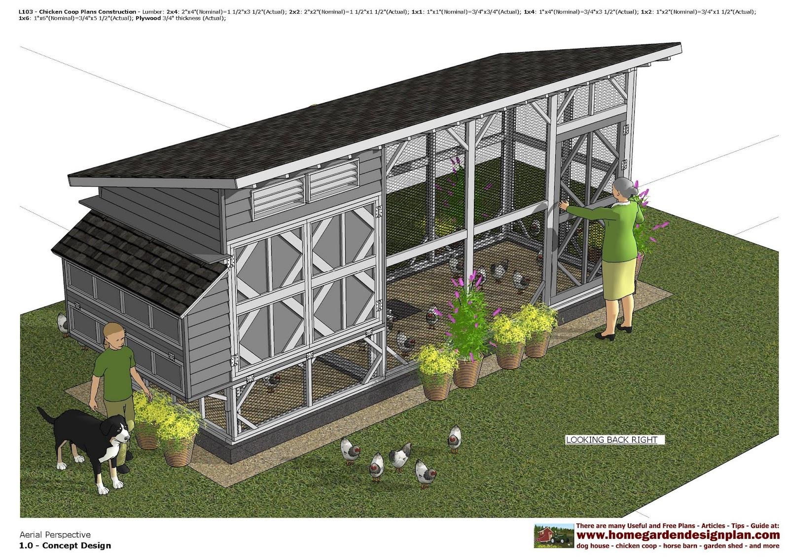 Home garden plans l103 chicken coop plans chicken for Making a chicken coop