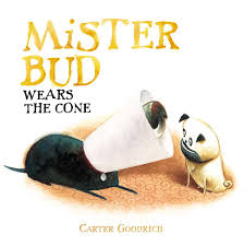 pug carter goodrich illustration dog wearing cone