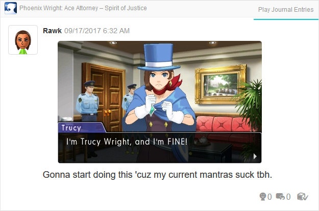 Phoenix Wright Ace Attorney Spirit of Justice Trucy I'm fine