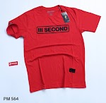 BAJU KAOS THREESECOND MERAH (PM564)