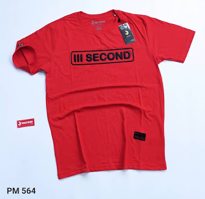 BAJU KAOS DISTRO THREESECOND MERAH (PM564)