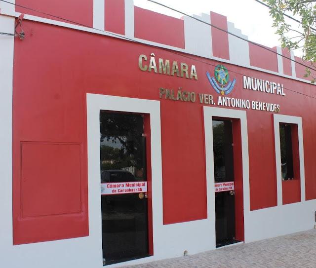 Câmara de Vereadores de Caraúbas prorroga a realização de sessões remotas e restrição de acesso ao público às dependências da Casa