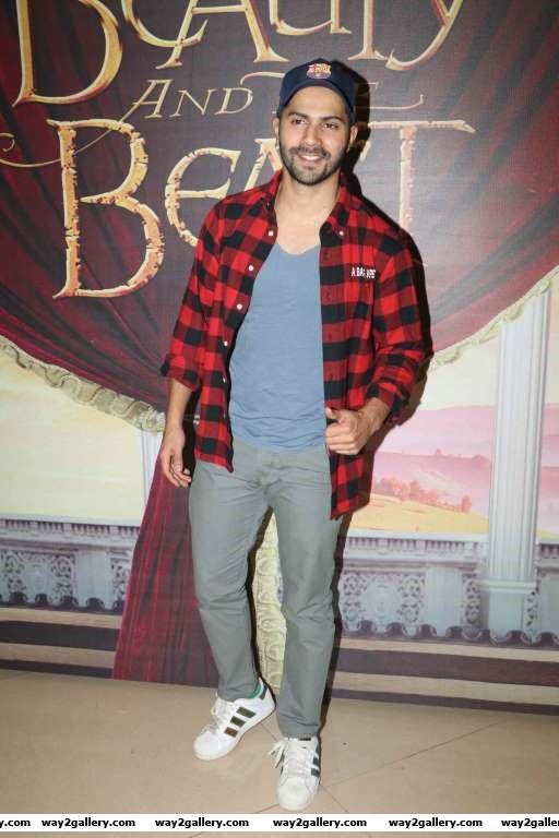 Varun Dhawan in a casual look as Disney India celebrates Beauty and the Beast musical night