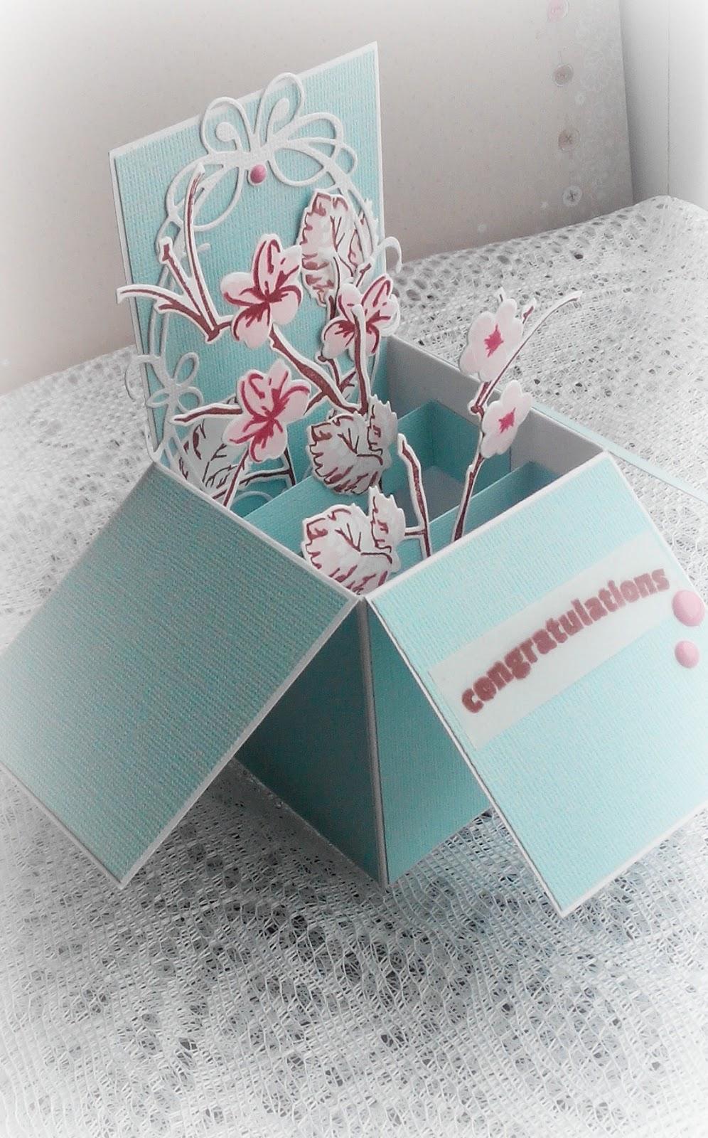 Сделать открытку в коробочке