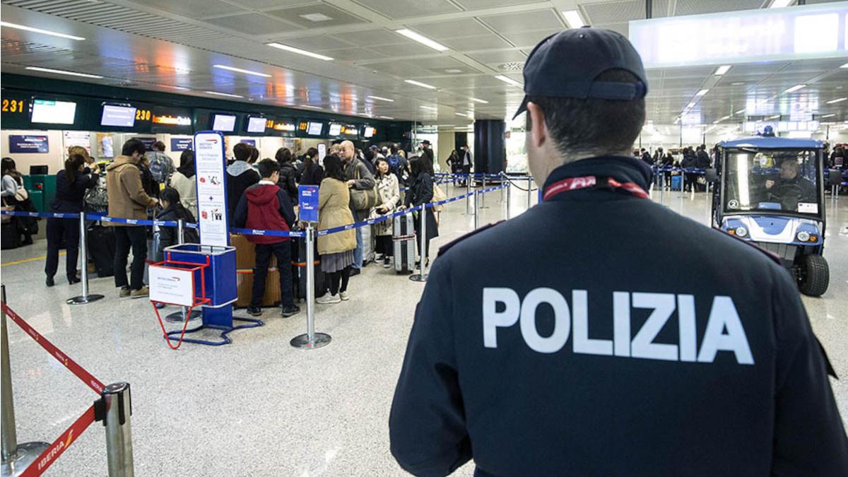 Polaria arresto senegalese aeroporto Catania Fontanarossa