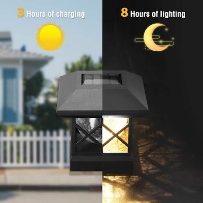 Solar Post Cap Lights Outdoor