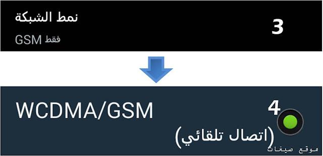 اتصال تلقائي wcdmad/gsm