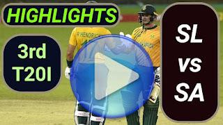 SL vs SA 3rd T20I 2021