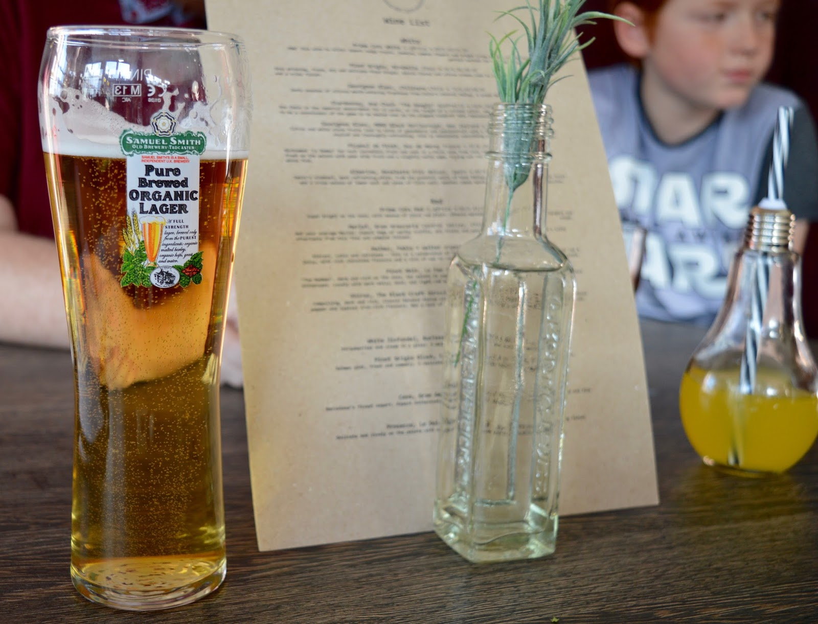 The best new restaurant in Whitley Bay - Evan's Bistro | Evening and Children's Menu Review  - organic lager