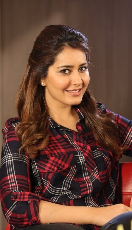 Beautiful Delhi Girl Rashi Khanna Cute Stills In Red Shirt